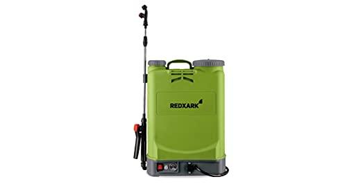 Redxark NEU 16 Liter Akku Drucksprüher bis zu 3 Std Sprühdauer - Akku Rückenspritze Drucksprühgerät - rückentragbarer Drucksprüher Akku Drucksprühgerät für Pflanzen, Garten, Dach, Desinfektion