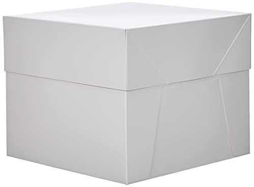 Decora 0339481- Caja de cartón para Tartas con Tapa (30,5 x 30,5 x 25 cm)