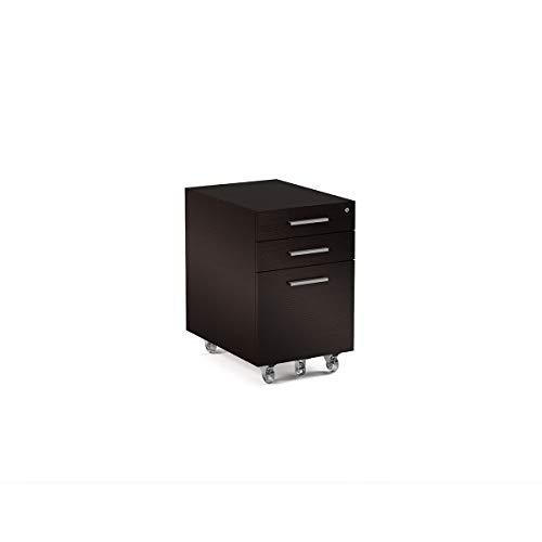 BDI Sequel Low Mobile File Cabinet & Pedestal, Espresso Stained Oak