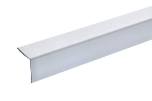 acerto 38150 Eckschutzprofil Aluminium, 100cm / 20 x 20mm * Selbstklebend * Made in Germany * Dreifach gekantet ohne Spitze | Winkel-Profil, Winkelleiste als Kantenschutz & Eckschutzschiene für Wände