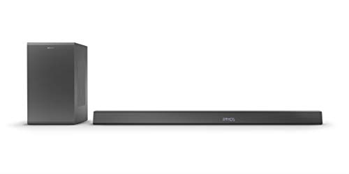 Philips B8905/10 Altoparlante Soundbar con Subwoofer Wireless (Bluetooth, 3.1.2 Canali, 600W, Dolby Atmos, HDMI eARC, Compatibile con DTS Play-Fi e Assistenti Vocali, Design Basso) - Modello 2020/2021