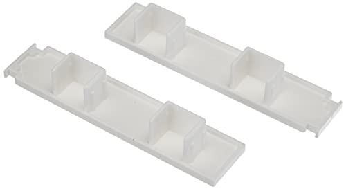 Gardinia Endstücke für Kunststoff-Vorhangschiene GE2, 1 Paar, Weiß