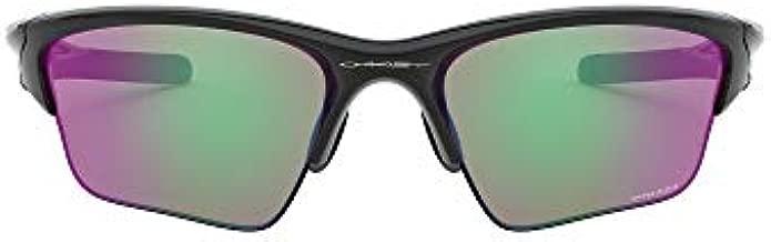 Oakley Men's OO9154 Half Jacket 2.0 XL Rectangular Sunglasses, Polished Black/Prizm Golf, 62 mm