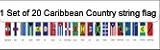 1 Set of 20 Caribbean Country String Flags (30FT)
