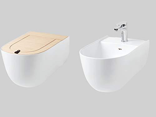 Artceram The One Sanitär-Blumentopf, Bidet, Übertopf, Eiche