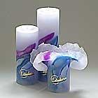 Candela Lotus-Kerze ART Blue Passion 23 cm