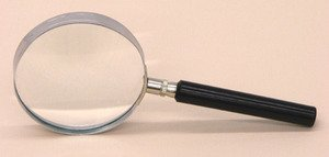 SEOH Magnifying Glass Metal Mount Plastic Handle 2 inch