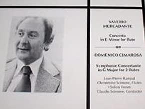 Mercandante - Concerto in E Minor for Flute; Cimarosa - Symphonie Concertante in G Major for 2 Flutes / Jean-Pierre Rampal & Clementine Scimone, Flutes; I Solisti Veneti, Claudio Scimone