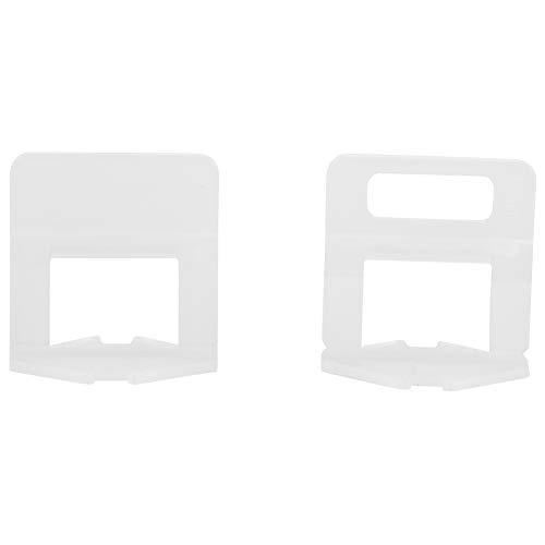 Tile Leveling Clip Spacer Herramienta de nivelación de azulejos,100 Pcs/set plástico desechable suelo azulejo de la pared clips de ajuste de la altura de la cuña ajustable Joint Assistant Tool(1.5mm)