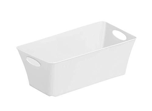 Rotho Living Piccolo box di stoccaggio 2l, Plastica PP senza BPA, Bianco, 2l 25.2 x 13.4 x 9.0 cm