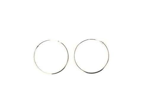 PINTI Pendientes de aro de plata de ley 925 | Tamaño: 25mm | Estilo: plata 925 |