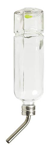 Lixit Glass Water Bottles for Rabbits, Guinea Pigs, Ferrets, Birds, Chinchillas, Rats, Hamsters, and Other Small Animals. (12oz)