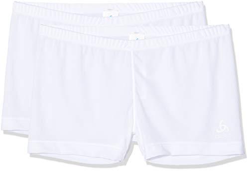 Odlo Damen SUW Bottom Panty Active Cubic Light 2 Pack Unterhose, White, M