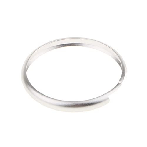 YFBB 2 Piezas Smart Key Case Remote Fob Ring Cover, para BMW Mini Cooper Deco-Trim de Aluminio Llave de Coche