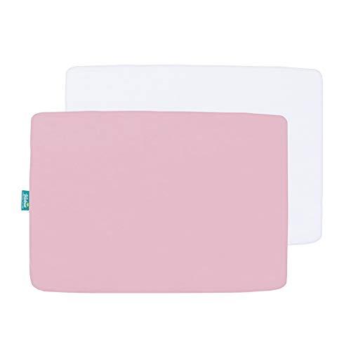 Great Deal! Biloban Mini Crib Sheets,Pack N Play Sheet Fitted, 2 Pack Portable Playard Sheets, Ultra...