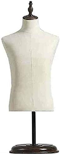 SDHENAILIAN Maniquí Confección Maniquí Macho Torso con Soporte, Pantalla Beige Tshirt Tshirt - para Shows De Contador/Fotos/Diseño - Fácil De Montar (Color : Without Arm)