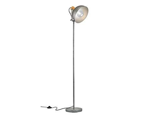 Industrial Style LED houten balken hanglamp, halve bol hangend en driepod staande lamp, fotolijst rond
