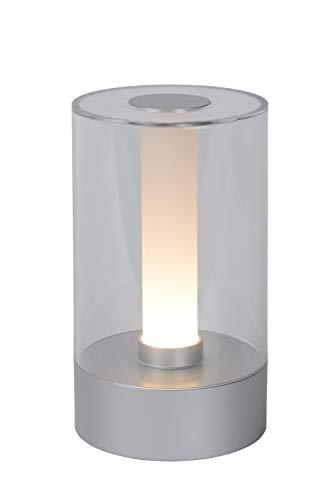 Lucide 26501/03/12 - Lámpara de mesa, acrílica, 3 W, cromo mate, transparente