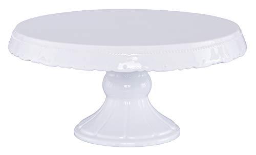 Birkmann Expositor de Tartas con diseño Retro, cerámica, Blanco, 15 cm