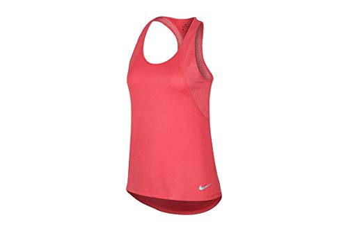 NIKE W Nk Run Tank Camiseta, Mujer, Rojo (Ember Glow/Reflective), XS