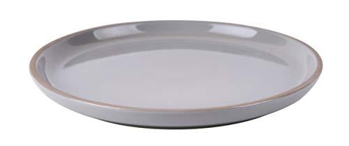 Present Time Assiette à dessert Brisk21,5 cm Terre cuite/gris