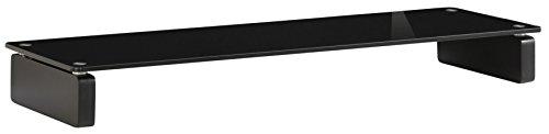 MAJA MÖBEL - Mobile per TV, in vetro, 110,00 x 35,00 x 12,20 cm, colore: Nero