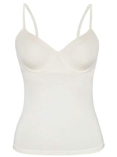 Sassa Damen BH-Shirt m. Einlage vorgeformt Unterhemd, Weiß (Elfenbein 00314), (Herstellergröße:85B)