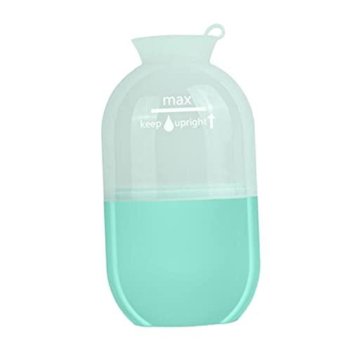 harayaa 1 pieza, pequeña taza de masaje con hielo refrigerante reutilizable, fitness, herramienta de rodillo de masaje frío, terapias frías, congelable, para - Verde