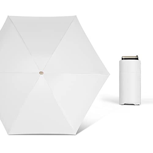 Lhl Compatto Thumb Sun ombrellone, 5-Pieghevole, Tascabile, Impermeabile, Antivento UV & Sunprotection, Mini 6 Costole Vinile in Lega di Alluminio Sole Parasole all'aperto