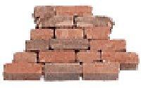 Mauersteine mini unsortiert rot