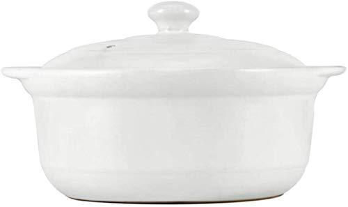 DUDDP Cacerola Guiso de Utensilios de Cocina Terracotta Casserole Platos con Tapas de Alta Temperatura, Calentamiento Uniforme (Size : 1.7L)