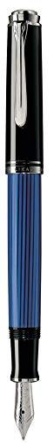 ペリカン 万年筆 EF 極細字 ブルー縞 スーベレーン M405 正規輸入品