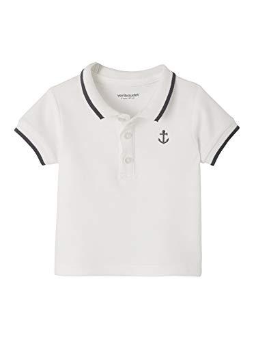 Vertbaudet Vertbaudet Poloshirt für Baby Jungen, Stickerei weiß 68