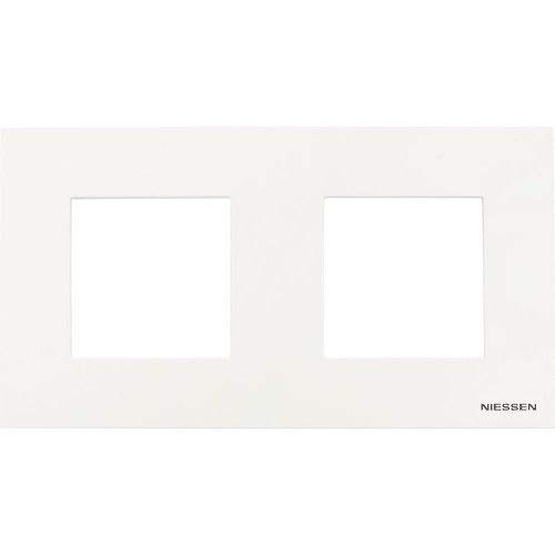 Marco compacto para 2 elementos Niessen Zenit Blanco