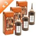 3Stück Cremes colorantes Kupfer Henna Color–90ml