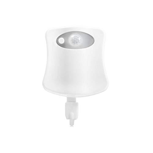 Salle de bains Nuit Intelligent Light Motion Sensor LED 16 Changer la couleur toilettes Veilleuse for cadeau le jour de Noël Enfants (Color : White-8 color)