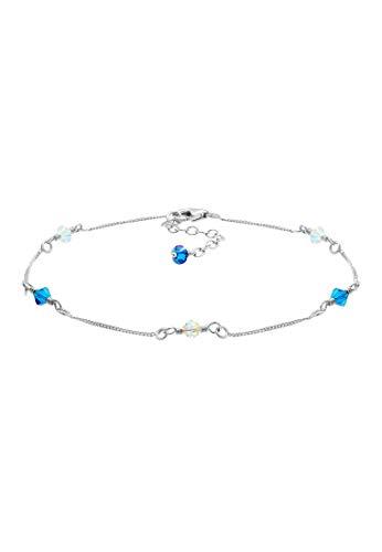 Elli Fußschmuck Damen mit Swarovski® Kristalle in 925 Sterling Silber