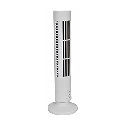 XIAOFANG Tragbar USB Klimaanlage Mini elektrische vertikale vertikale blattellose Fan Sommer Luftkühler für Home Office Reisekühlturmfan (Color : White)