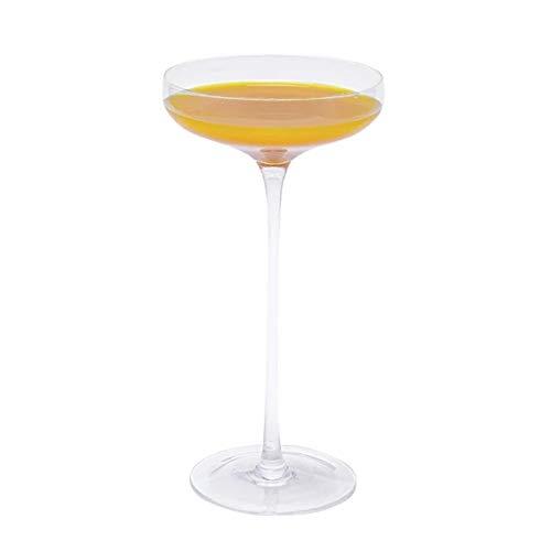 WanuigH Copa de Vino Tinto Copa de Vidrio Copa Transparente Personalidad Copa de Cristal de Barra Creativa Decoración Elegante (Color : Clear, Size : 21x10cm)