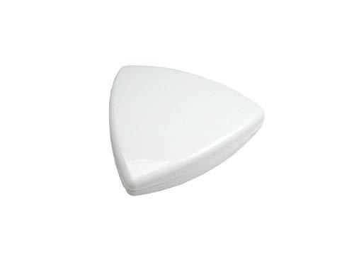 Dekomagnet - Gardinenmagnet – Magnetgriff - Magnetpin - Dreieck ca. 4 cm - starker Halt - weiss