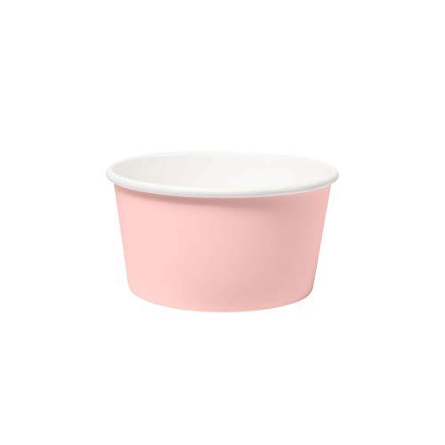 Duni 192403 - Bio Schüsseln aus Pappe Pink, Fassungsvermögen 42 cl, 10 Stück, Pink, ecoecho, PLA, Pappschüsseln, Eisschüsseln, Behälter, Snackbox