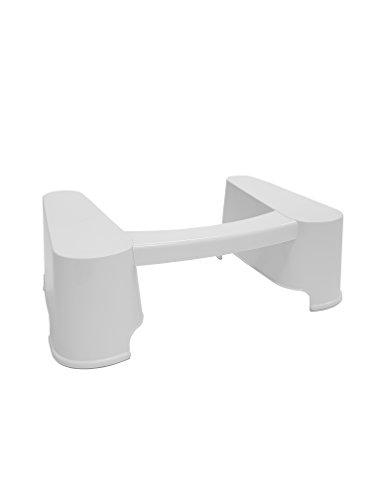 IRIS, Toilettenhocker / WC Hocker  'Toilet Assistant Step', TLS-200, gegen Verstopfungen und Hämorrhoiden, Plastik, weiß, 57 x 37,8 x 17,5 cm
