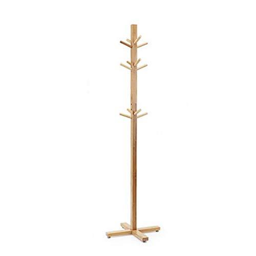 M-YN Perchero de pie Perchero de bambú y Perchero 12 Ganchos Perchero Perchero de Ropa for la Oficina del Dormitorio en el vestíbulo del Garaje 166CM (H)