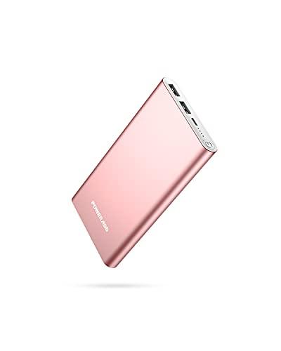 POWERADD Powerbank 10000mAh, Externer Akku mit Dual USB 5V/3,1A Ausgänge Schnellladen Power Bank Alugehäuse Handy Ladegerät für iPhone, Samsung Galaxy, Huawei, iPad
