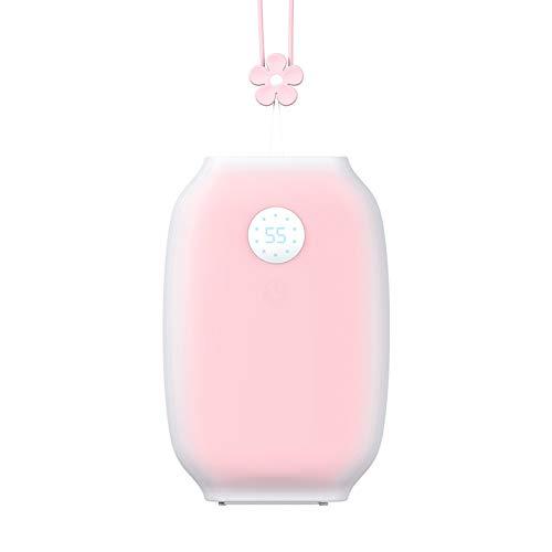 HGA Calentador Manos Gelatina Carga USB Pantalla Digital Cálido Bebé Calefacción Doble Cara Doble Uso Energía Móvil Regalo Creativo,A
