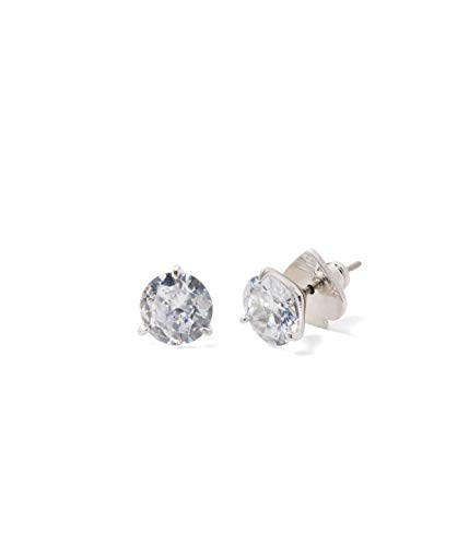 Kate Spade New York Brilliant Statements Trio Prong Studs Earrings Clear/Silver One Size