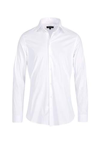 Rockchain Herren Hemd Body-Fit - Weiß - Large