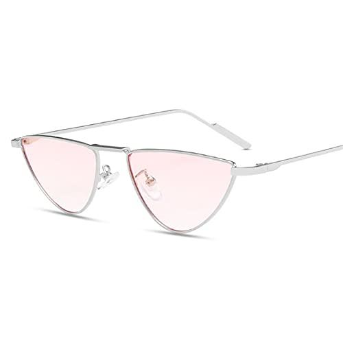 Gafas De Sol Gafas De Sol De Ojo De Gato Sexy para Mujer, Gafas De Sol Retro De Metal De Moda para Hombres, Gafas De Conducción, Gafas De Color Rosa Opaco Aspicture