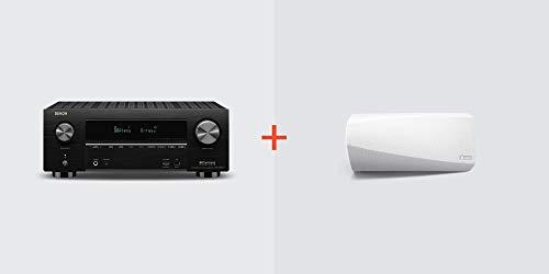 Denon AVR-X3600H Receiver + HEOS 3 Wireless Speaker (White) Bundle, Model: AVRX3600H+HEOS3WT