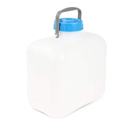 Wamovo® Bidon à large col avec poignée en étrier et bouchon DIN 96 Blanc 16 l